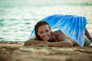 Katrin Gray ist Meerjungfrauenmodel von Beruf