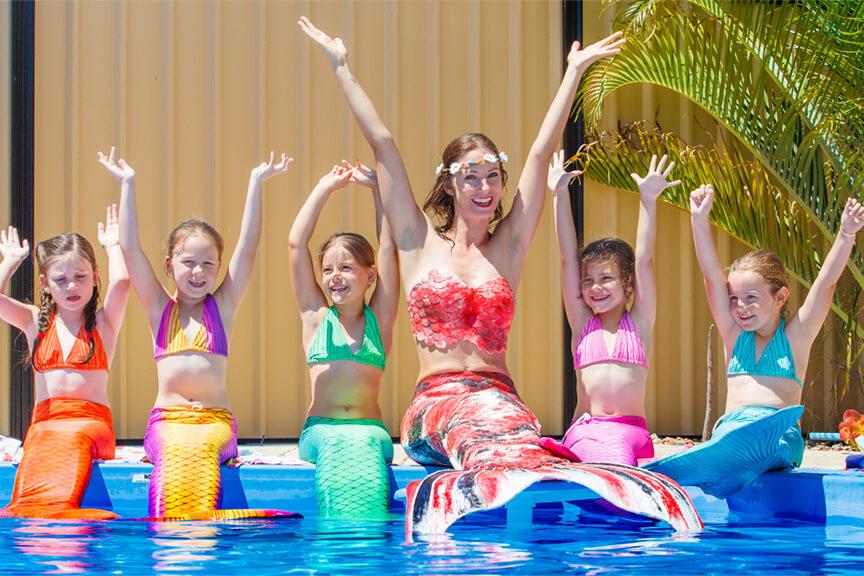 Meerjungfrauengeburtstage mit Mermaid Kat