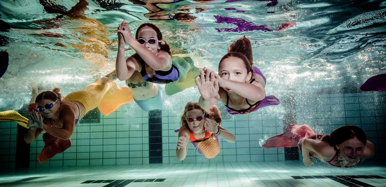 Meerjungfrauenschwimmen Mermaiding