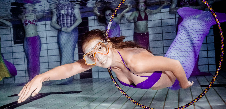 Meerjungfrauenschwimmkurs