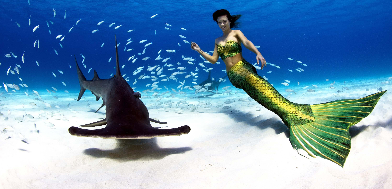 Mermaid Kat ist professionelle Meerjungfrau