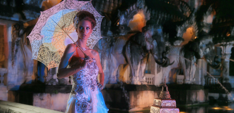 Model und Meerjungfrau