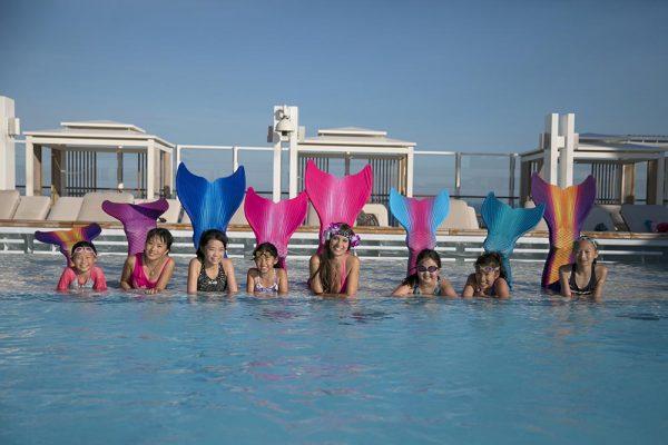 Mermaiding, Meerjungfrauenschwimmen