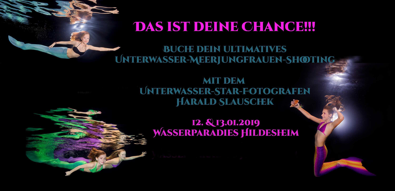 Unterwasser Meerjungfrauen Shooting in Hildesheim