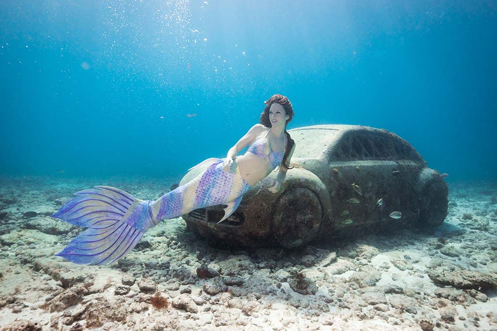 Apnoe-Training für Meerjungfrauen
