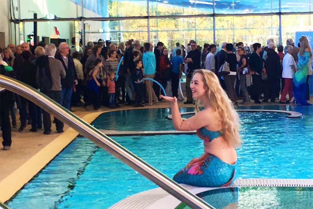 Meerjungfrau Jessi in der Wasserwelt Langenhagen