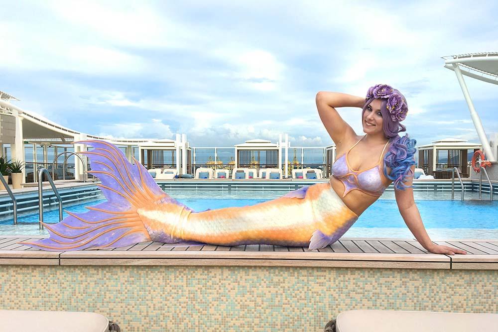 Schwimmen wie eine Meerjungfrau mit Mermaid Lille aus Lübeck