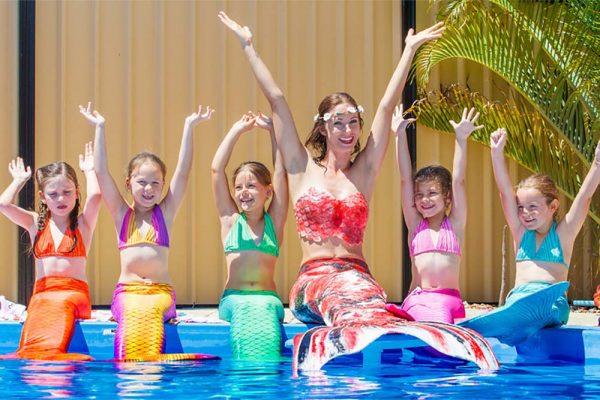 Schwimmen wie eine Meerjungfrau in Nienburg