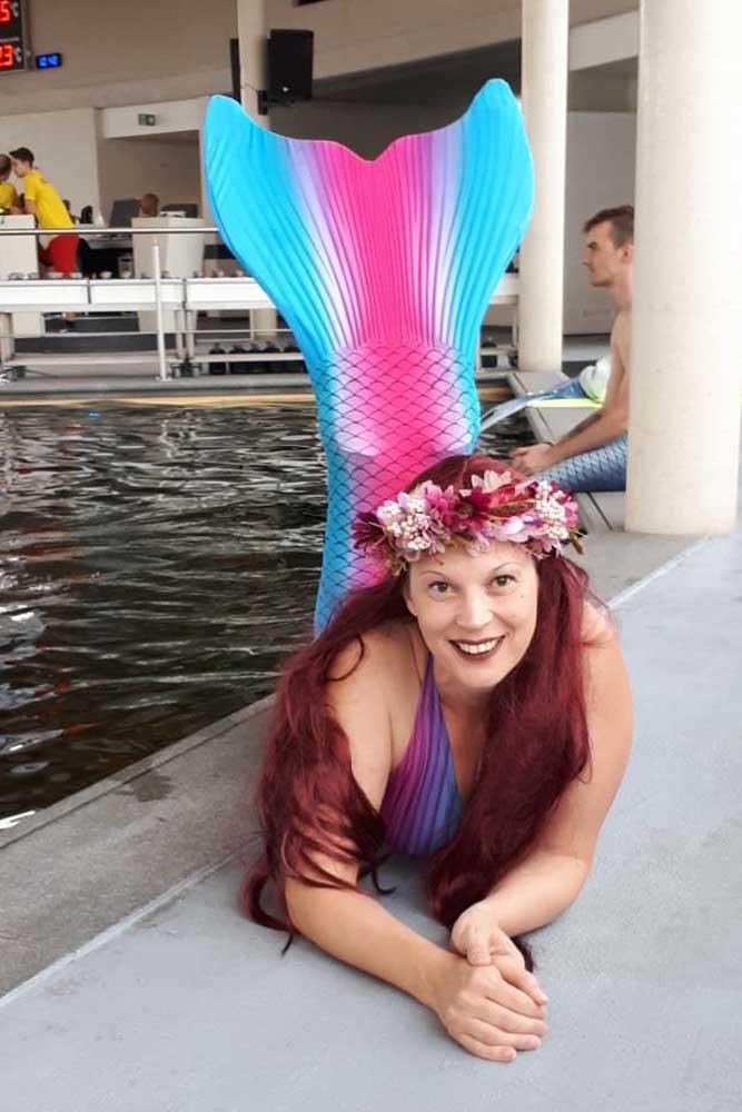 Andrea unterstützt unser Meerjungfrauenteam in NRW