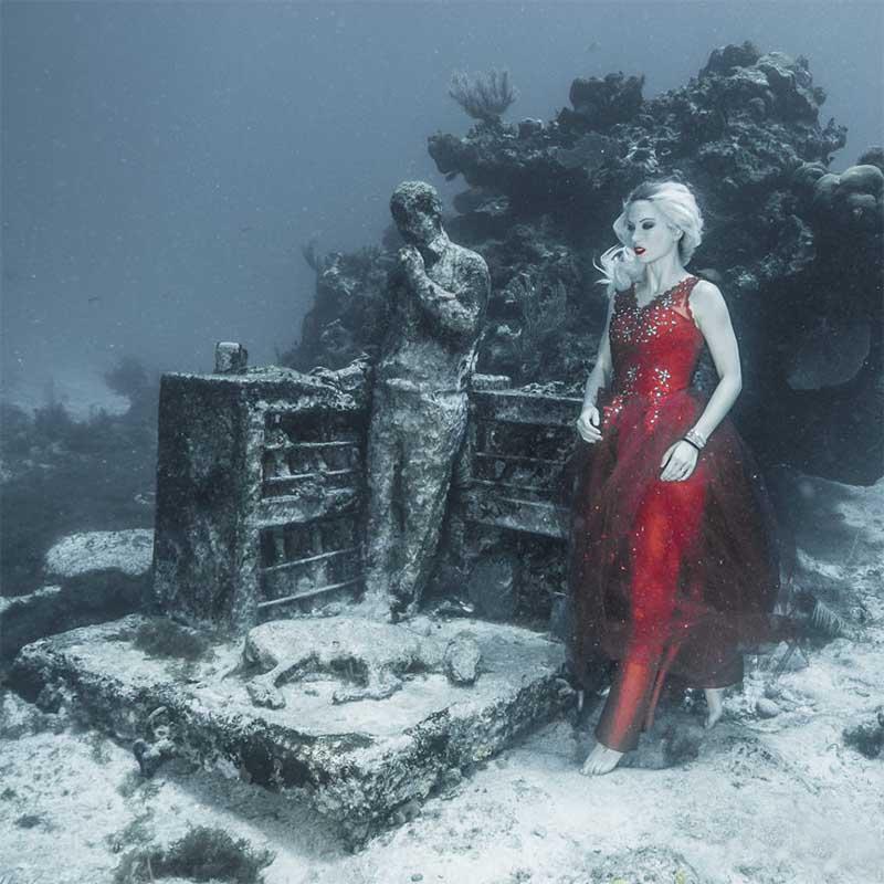 Unterwasser Fotoshooting mit Katrin Gray - Mermaid Kat