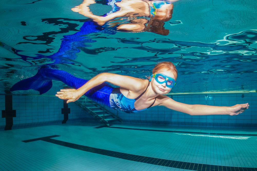 Meerjungfrauenschwimmen in Delmenhorst und Dresden