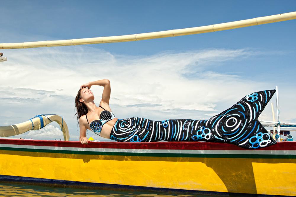 Unterwassermodel- und Mermaid Week in Bali