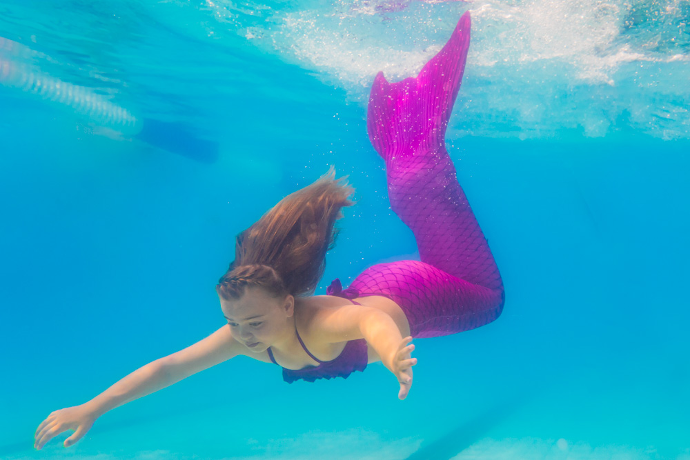 Sechserkarten zum Mermaidschwimmen - Schwimmen wie bei H2O