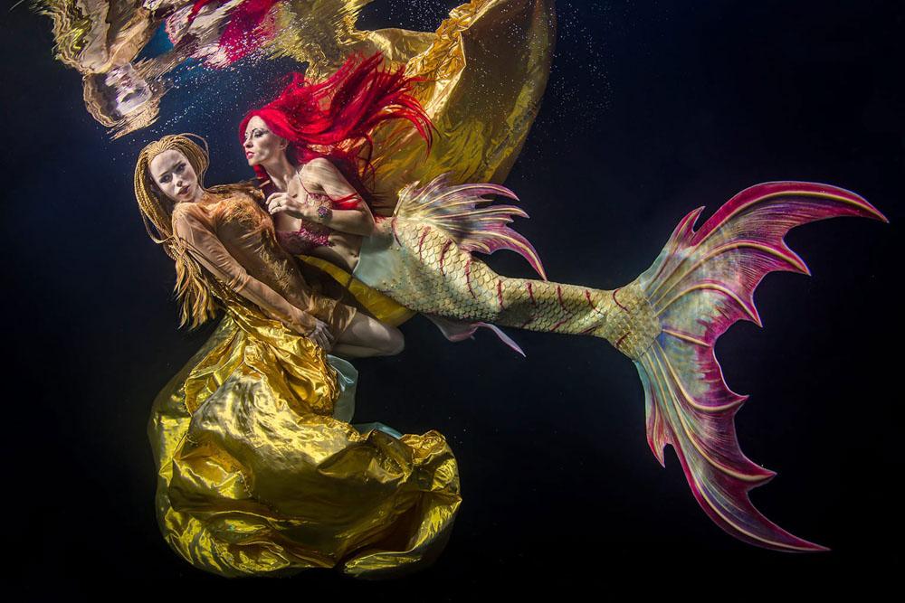 Unterwassermodel werden wie bei GNTM